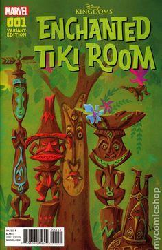 Disneyland Enchanted Tiki Room Comic Cover Art Decoupaged on Wood Vintage Tiki, Vintage Disney, Tiki Art, Tiki Tiki, Tiki Pole, Tiki Room Disney, Tiki Hawaii, Hawaiian Tiki, Vintage Hawaiian