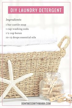 DIY Natural Laundry Detergent - Learn how to make your own detergent without the harsh chemicals for pennies compared to store-bought versions - DontMesswithMama.com