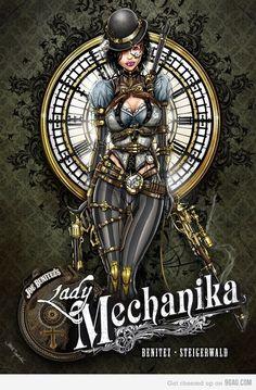Lady Mechanika by *jamietyndall - Steampunk girls Steampunk Kunst, Steampunk Book, Steampunk Artwork, Style Steampunk, Steampunk Costume, Steampunk Fashion, Steampunk Dress, Gothic Steampunk, Lady Mechanika