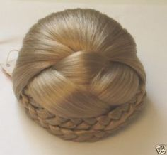 My mom wore these on bad hair days. She would pull back her hair, clip it on and look fabulous! Bun Hair Piece, Hair Pieces, Edwardian Hairstyles, 1960s Hair, Braided Hairstyles, Updo Hairstyle, Prom Hairstyles, Wedding Hair Accessories, Costume Accessories