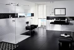 Virlova Interiorismo: [Decotips] Tips para decorar el baño en negro. Piso