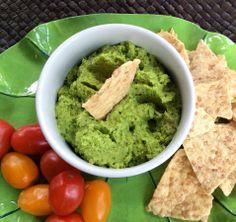 Green Chickpea Hummus; Yum!! (GF/DF, Vegan)