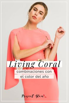Living Coral, este es el color que ha elegido #Pantone como el protagonista del año. Nosotros te enseñamos cómo combinarlo, con estilo. Haz clic en la imagen. #Color #LivingCoral #ColorOfTheYear #Coral #Fashion #Outfits Moda Coral, Coral Fashion, Coral Lipstick, Coral Nails, Simply Fashion, Pantone, Romantic, Outfits, Crop Tops