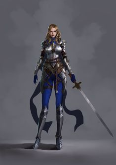 ArtStation - 女骑士 练习, JSYYY -