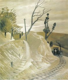 'The Dolly Engine' by Eric Ravilious