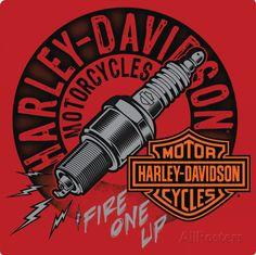Harley-Davidson® - Sparked Placa de lata                                                                                                                                                                                 Mais