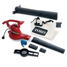 Toro 51619 Ultra Blower/Vac, Red (Corded) Price: (as of - Details) Toro is the Rated brand. The ultra electric blower Vac delivers all. Best Electric Scooter, Electric Power, Vacuum Bags, Vacuum Tube, Cord Storage, Mode Top, Home Tools, Leaf Blower, Lawn Mower