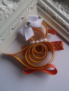 Easter Duck Ribbon Sculpture Hair Cllip. Duck Hair Clip. Easter Duck Hair Bow.. $3.50, via Etsy.