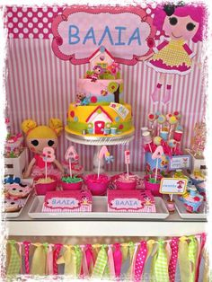 Incredible dessert table at a LaLaloopsy birthday party! See more party ideas at CatchMyParty.com!
