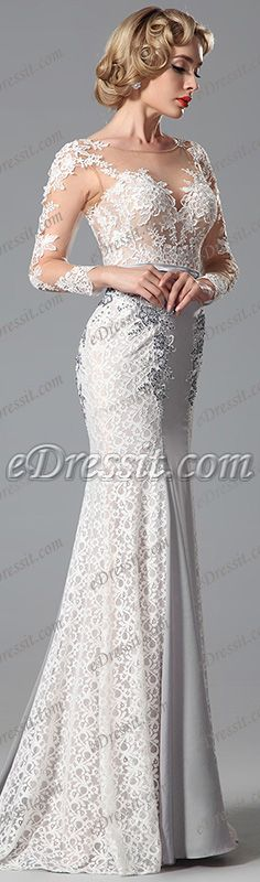 Embrace this amazing lace gown! #edressit #dress #evening_dress #fashion