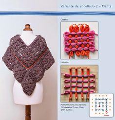 Resultado de imagen de prym maxi loom Pin Weaving, Loom Weaving, Loom Bands, Loom Patterns, Crochet Blanket Patterns, Loom Flowers, Loom Craft, Peg Loom, Textiles