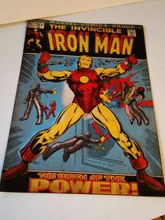 Ironman Tin sign by Pattyzztiques on Etsy Tin Signs, Iron Man, Comic Books, Fan Art, Comics, Etsy, Comic Strips, Iron Men, Comic Book
