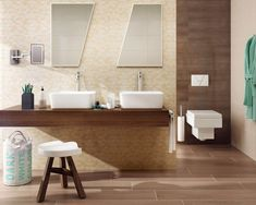 Tiles and Terrazzo Tiles, Bathroom Vanity, Brown Bathroom, Bathroom, Tile Supply, Domus, Brown Bathrooms Designs, Bathroom Design, Tile Bathroom