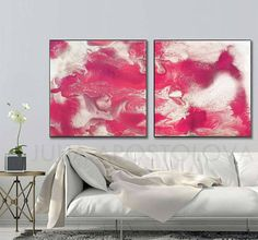 #80inch #Painting, '' #Ruby #Sky'', #Watercolor #Set 2, #DiptychArt, #Cherry #Color, #Abstract #Cloudy, #Pink #Ruby White, Prints, #ExtraLargeWallArt #extralarge #wallart #modern #contemporary 56'', #White and #Purple #Art #Silver, #Fluid #Painting, #AbstractPrint, #MidCentury #ModernArt #LargeWallArt #Gray #JuliaApostolova, #Follow Your #Dream #interior #interiordesigner #homedecor #homeideas #livingroom #modernhome #artlovers #artgallery #design #designers #homedesigners #decoration…