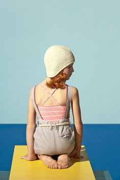 Lil Buckeroo ♥s this vintage overalls and swimsuit. SÉRIE MODE : DAVID HOCKNEY'S POOL