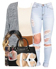 """""""52116"""" by naenaecrazy on Polyvore featuring Topshop, MICHAEL Michael Kors, Jocelyn and New Look"""