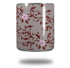 Victorian Design Red - Decal Style Skin Wrap fits Yeti Rambler Lowball (YETI NOT INCLUDED)