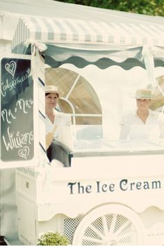 Ice Cream at a reception or party inspired by Anne and Diana at the picnic-Anne of Green Gables inspired  #anneofgreengableswedding