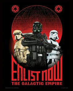 Enlistment poster for the empire.