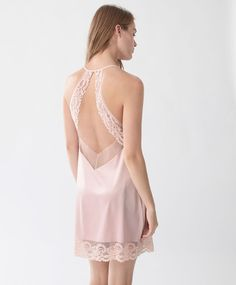 Blonde lace strappy nightdress - View All - Autumn Winter 2016 trends in women… Lingerie Outfits, Sexy Outfits, Women Lingerie, Online Lingerie, Girl Fashion, Fashion Dresses, Womens Fashion, Plus Size Kimono, Cute Clothes For Women