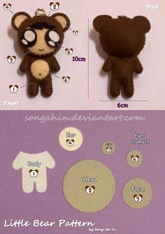Cute Little Bear Pattern... by ~SongAhIn on deviantART