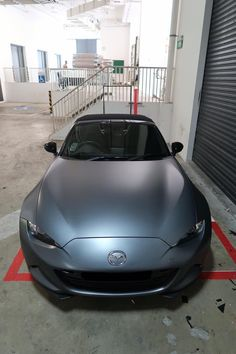 Titanium brushed wrap on mazda miata nd mx-5
