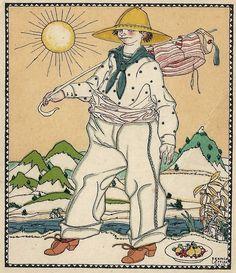 ¤ Berthold Löfller illustration dated 1914. Wiener Werkstatte
