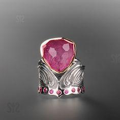 Quartz/Ruby -doublet and rubies - Margita