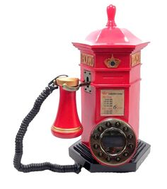 Telefone Vintage Post Box Inglaterra Retro — Loja do Caue - O presente ideal você encontra aqui!