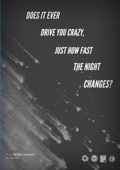 Night Changes//One Direction Pinterest.com/bonjourmis