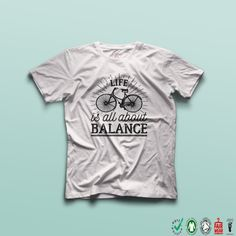 09ea8de8 Life is all about balance Women's T-shirt by TheBlackTeeShack Three Logo,  White Names
