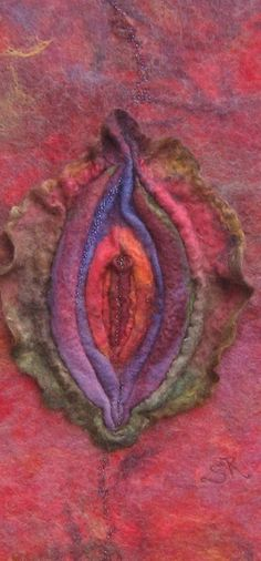 Womb Essence of the Great Mother ...  Felted Wall Art - Whisper of Spirit