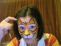 Tiger Face Painting Tutorial - YouTube
