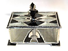 Stained Glass Jewelry Box Black With Star by glassmagic on Etsy