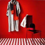 Bright Red Hallway