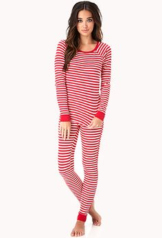 Classic Striped PJ Set | FOREVER21 - 2000110936 Perfect to wake up in for Christmas morning.
