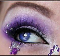 Purple eyeshadow --- and unicorn?