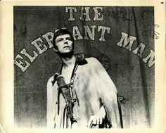 David Bowie as the elephant man