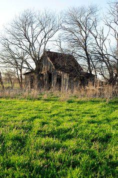 Forgotten barn, but old memories still linger...