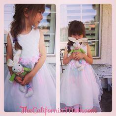 Easter bunny kids girls fashion dresses www.thecaliforniamom.com