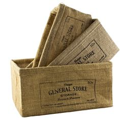 Set of storage baskets available at IdeaVintage