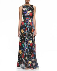 Elis Floral-Print Silk Maxi Dress by Alice + Olivia at Neiman Marcus.