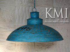 """industrialna lampa  XL """"Loft Colors"""" M-2713 niebieska"""