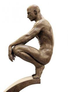 Sculpture by Roger Reutimann Beauty In Art, Male Beauty, Life Drawing, Figure Drawing, Art Masculin, Statues, Afrique Art, Sculptures Céramiques, Modern Sculpture