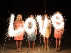 How to take sparkler message photos <3