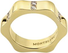 Montblanc 4810 Ring in yellow gold and diamonds