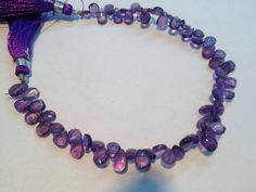 Crochet Necklace, Beaded Necklace, Gemstones For Sale, Amethyst, Drop, Etsy, Beautiful, Jewelry, Beaded Collar