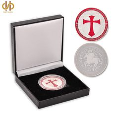 Knight Templar Gold /& Silver Color Fine Coin Special collectable /& commemorative gift