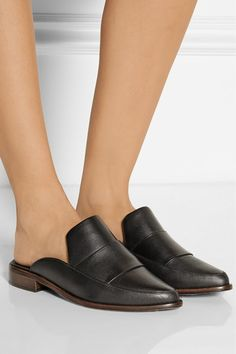 TIBI Denni leather mules $385