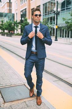 Men style tips, mens office fashion, navy blazer men, navy blue dress pants, Mens Office Fashion, Men Fashion Show, Mens Fashion Week, Mens Fashion Suits, Mens Suits, Der Gentleman, Gentleman Style, Blue Suit Men, Shoes With Blue Suit